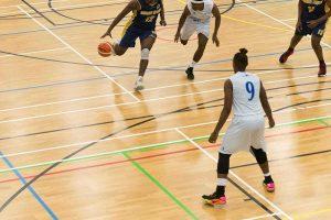 SportsDock at UEL, a basketball game in progress
