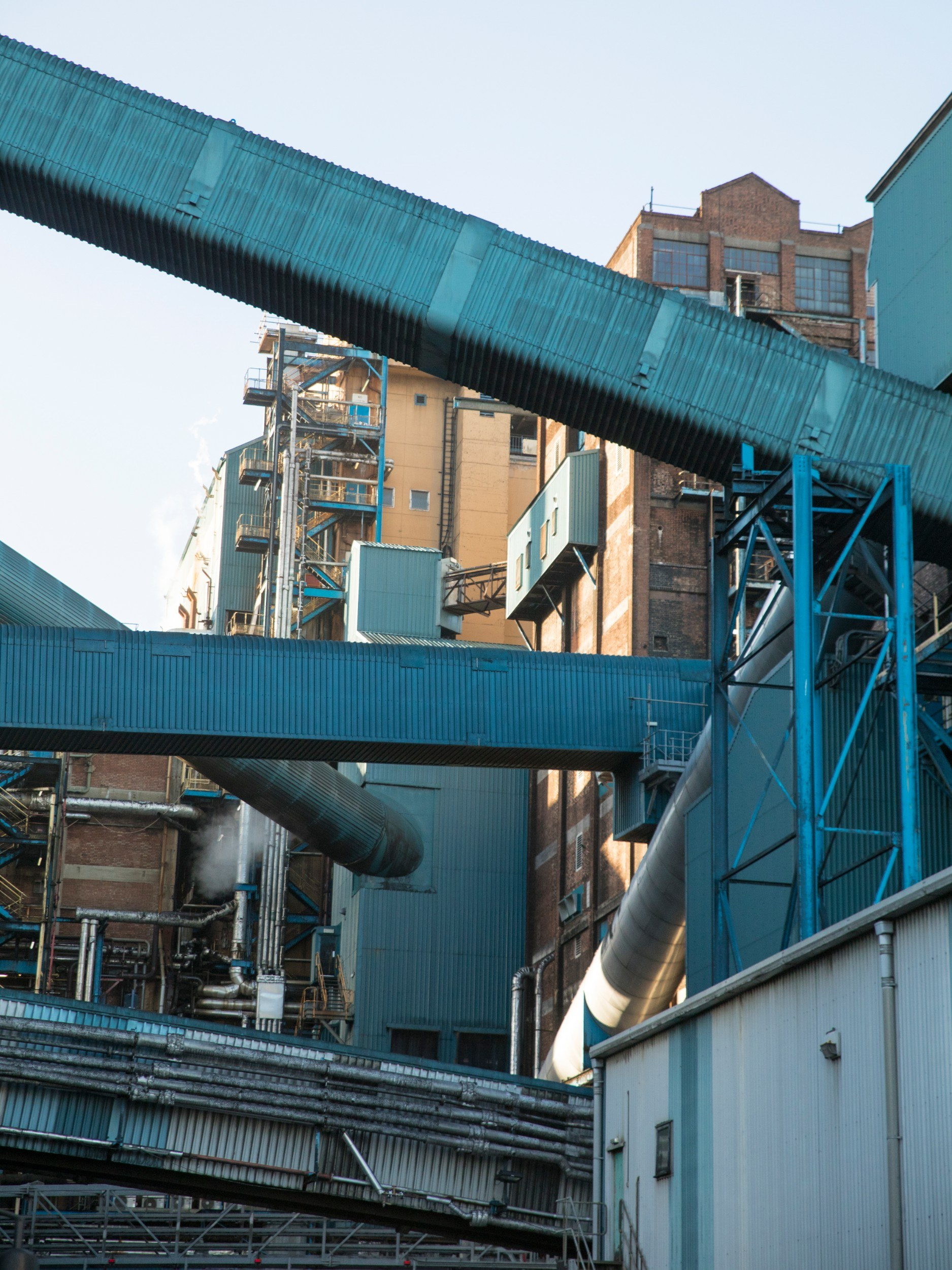Factory buildings from the outside