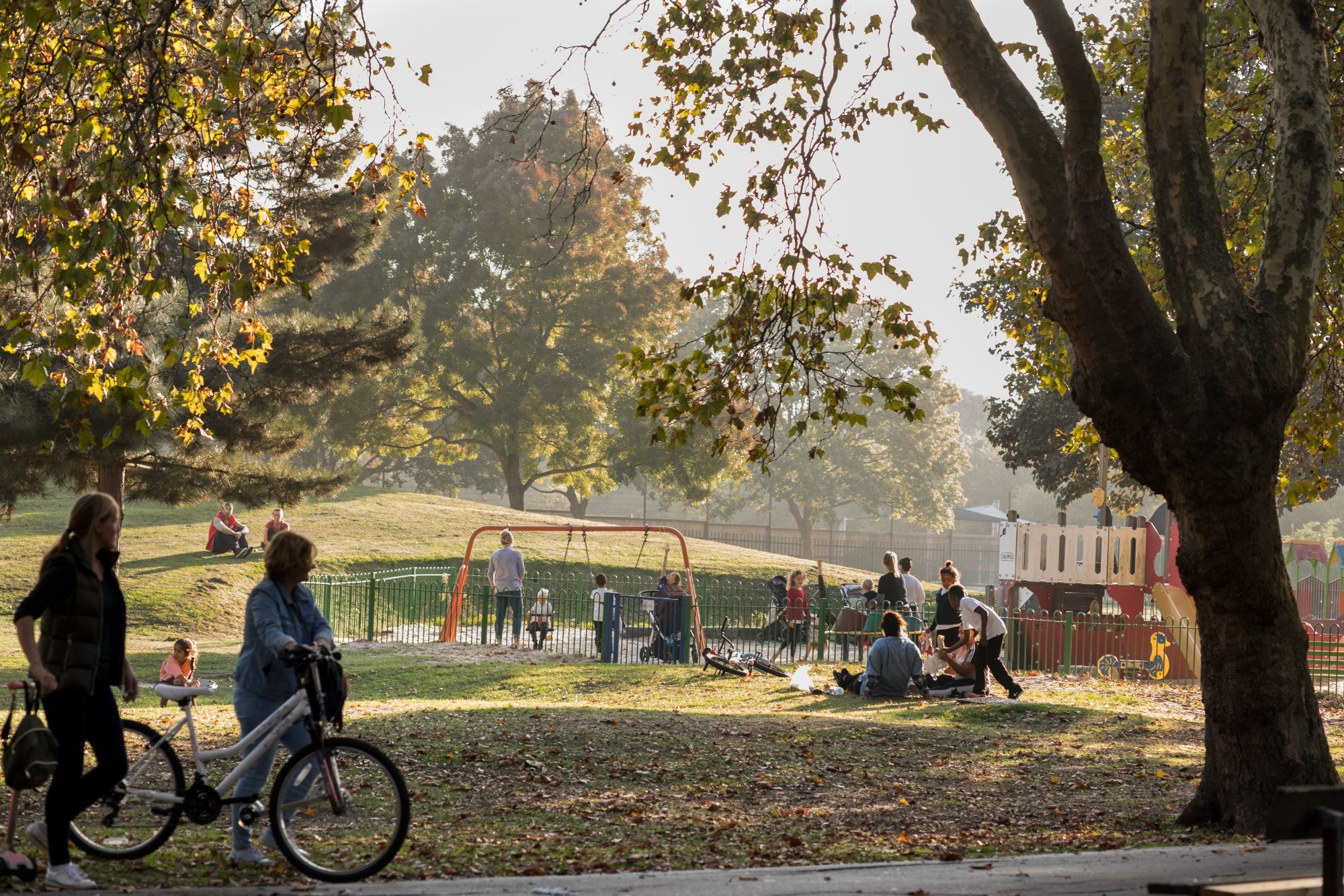 Groups of people playing at New Beckton Park