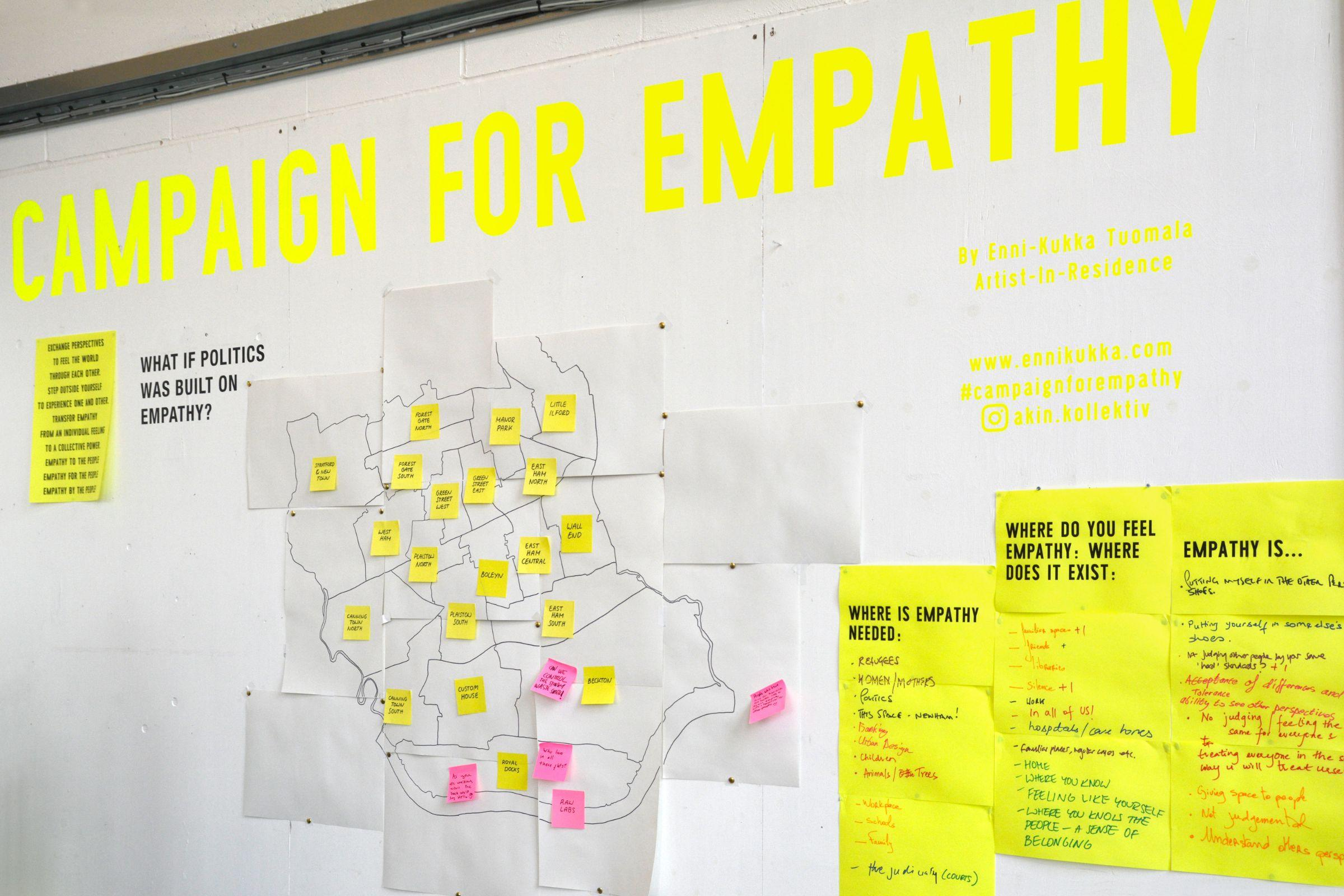 An ideas board with 'Campaign for Empathy' as a header
