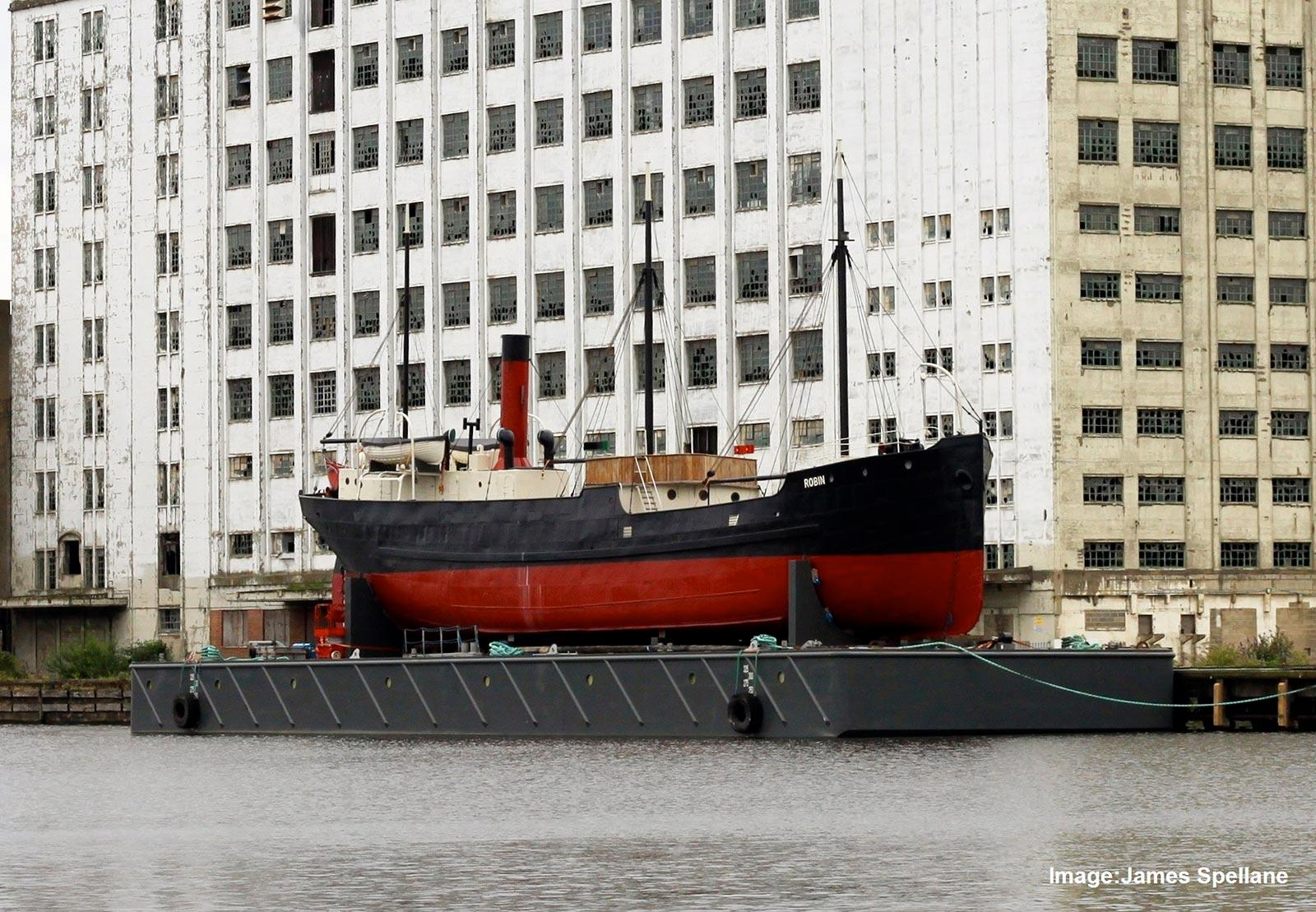 SS Robin in the Royal Docks