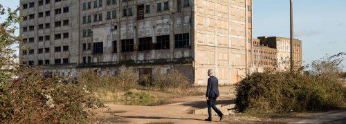 Graham Stark outside Millennium Mills