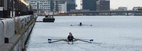 UEL Rowing team at Royal Albert Docks