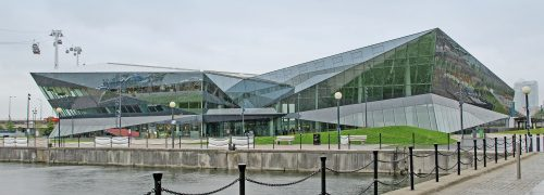 The Crystal building in the Royal Docks