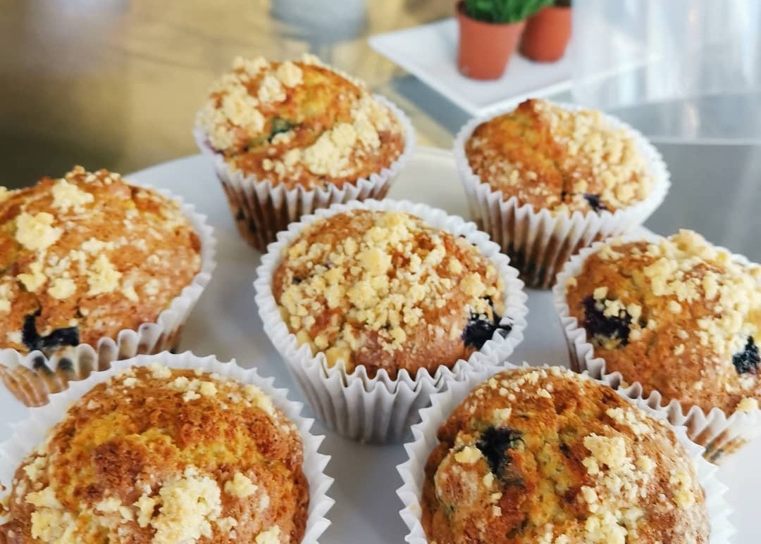 A selection of Lockside Kitchen muffins