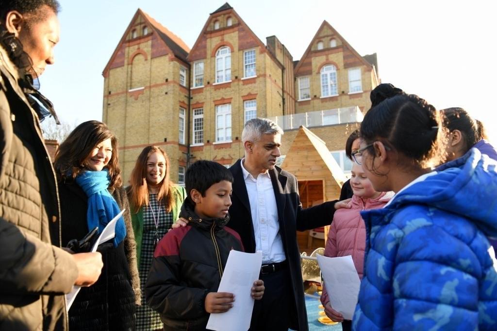 Mayor of London, Sadiq Khan at Salisbury Primary School in Newham