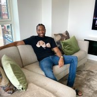 Chinedu Okafor at his home in Brunel Street Works, the Royal Docks