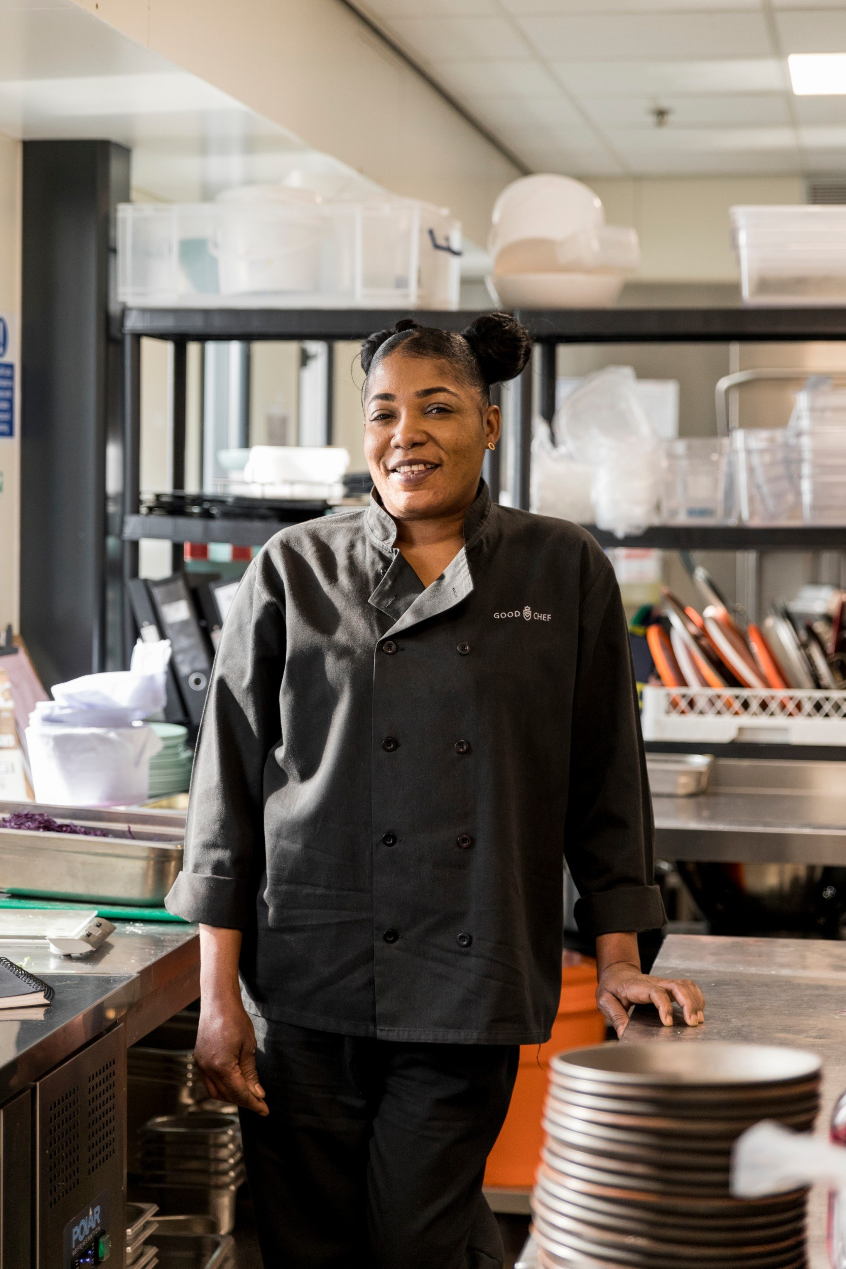 Photo of Ona Brown in the Good Hotel kitchen
