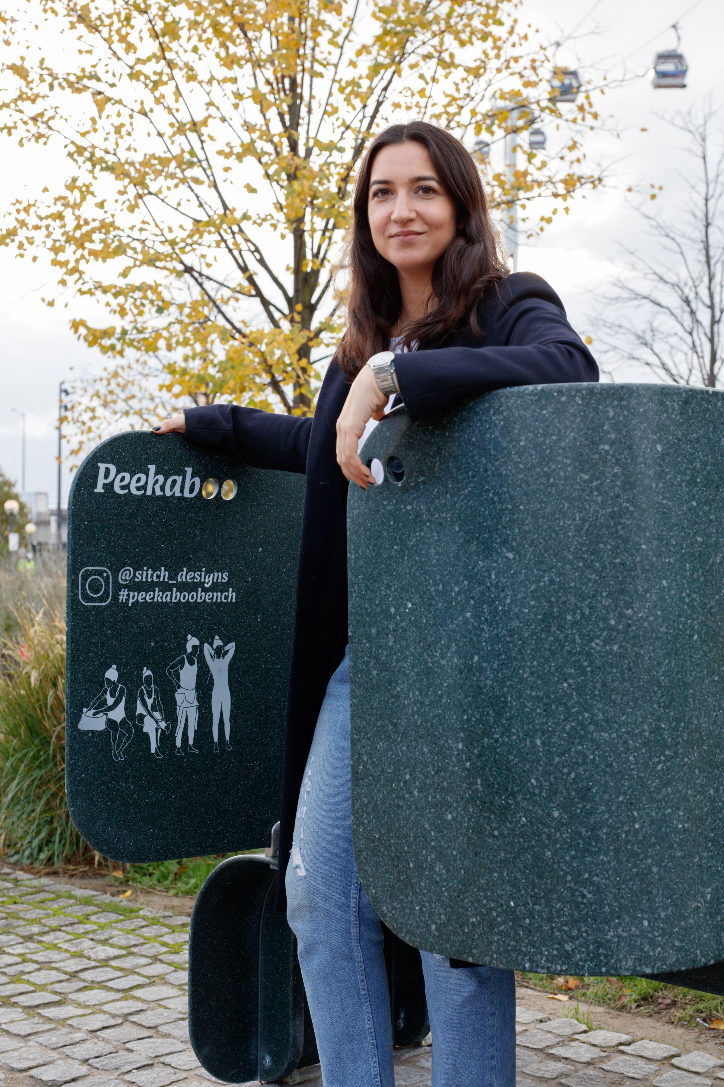Portia Malik's Peekaboo bench