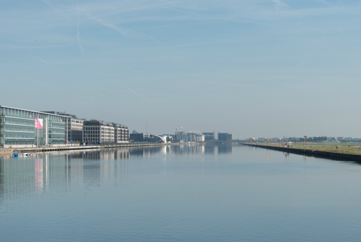 A view of the Royal Albert Docks
