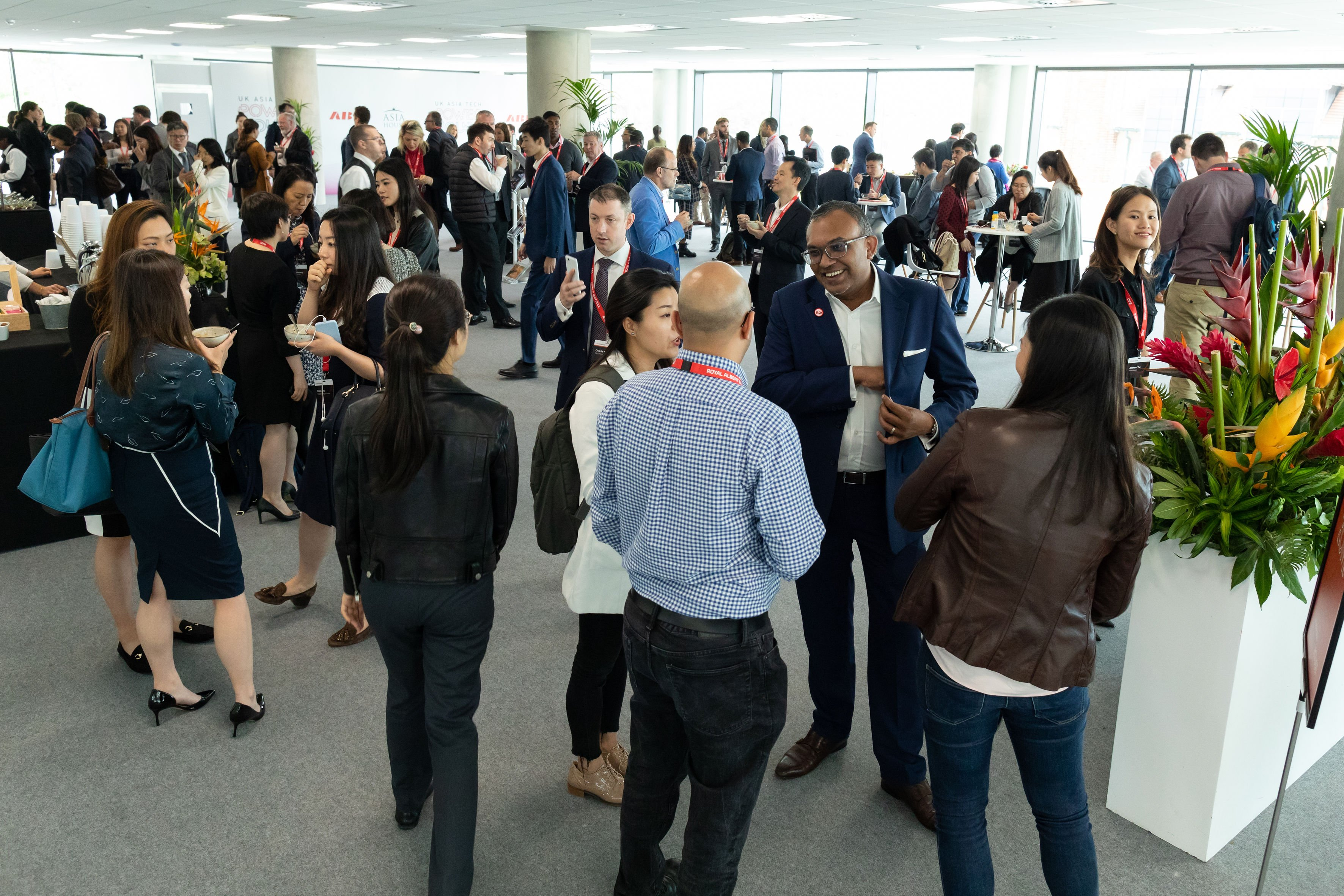 A networking event at the Royal Docks