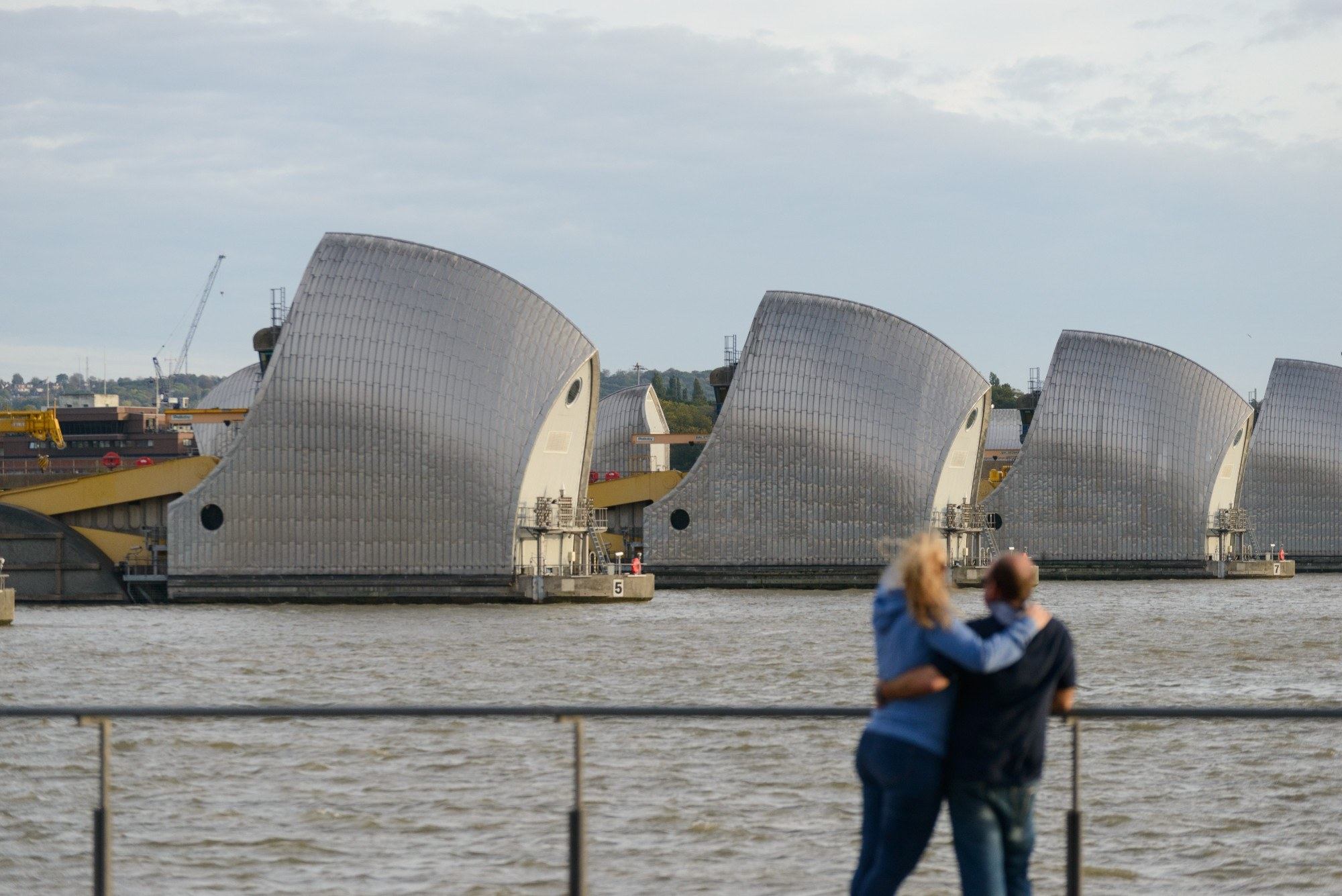 A photo of the Thames Barrier
