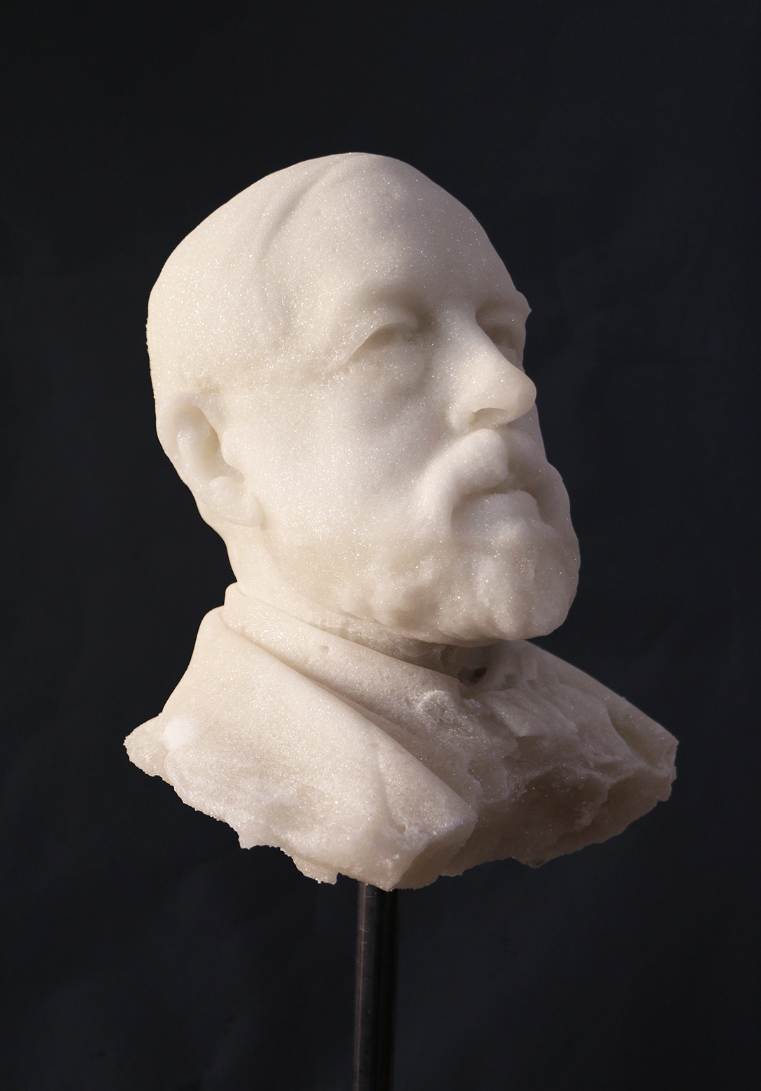 A bust made out of sugar of Henry Tate