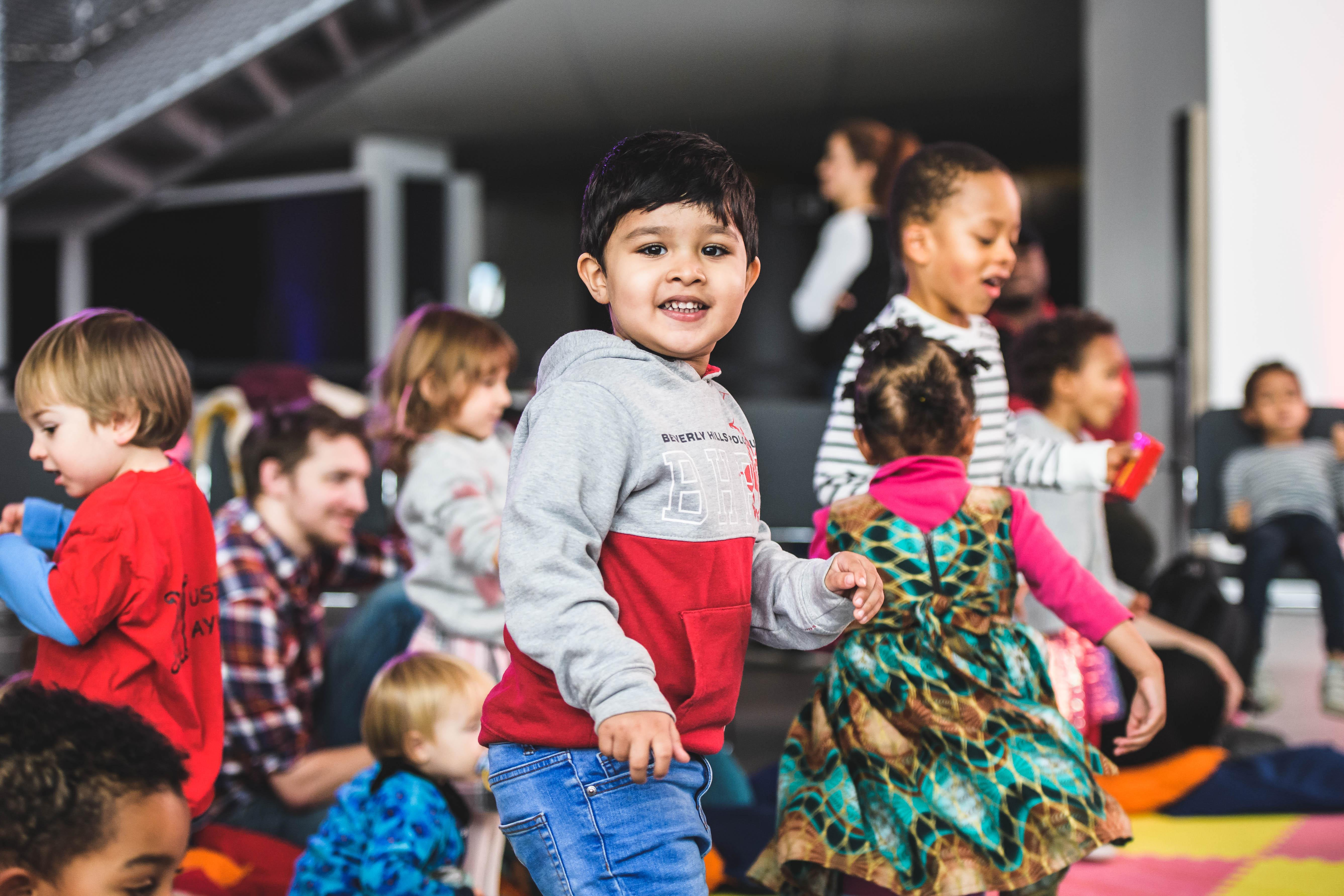A group of toddlers at the London Jazz Festival