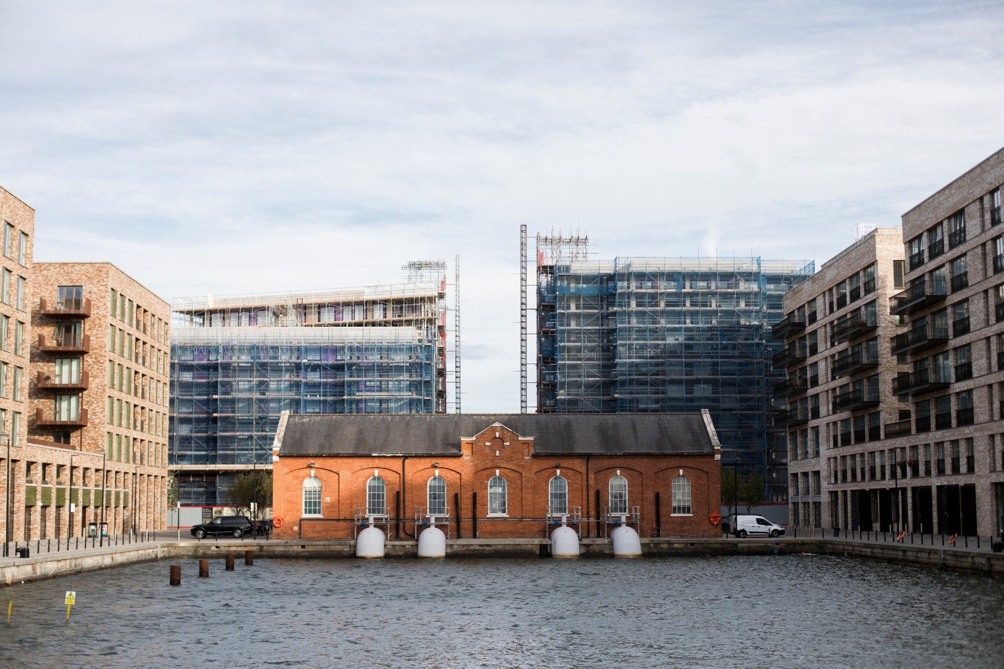 Pump House at the end of Royal Albert Wharf