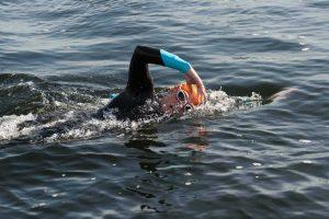 Dock2Dock Swim, swimmer in the docks