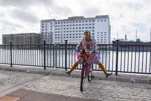 Momtaz Begum-Hossain outside Millennium Mills in the Royal Docks